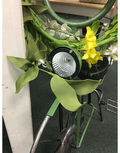 Solar Wind Pinwheel Bike planter CWI+