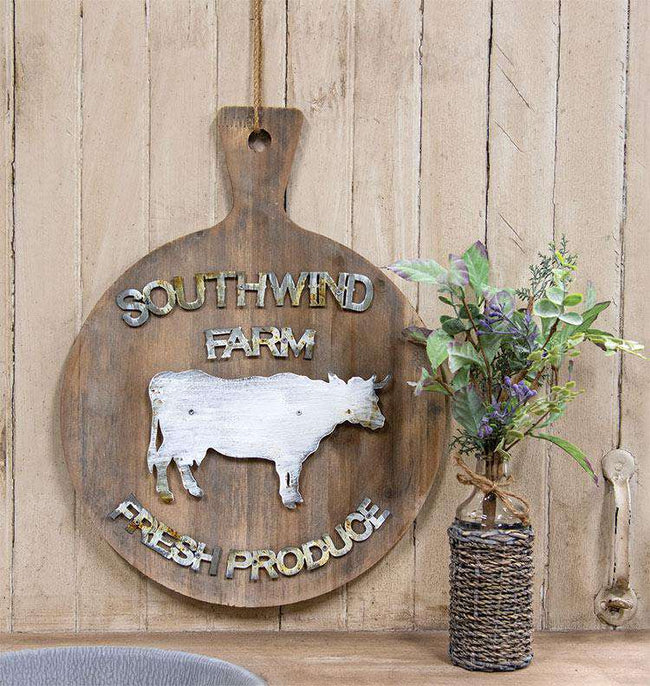 Southwind Farm Wooden Cutting Board Farmhouse Signs CWI+
