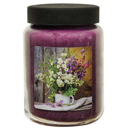 Spring Flowers Jar Candle, 26oz Art Label Candles CWI+