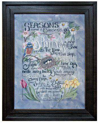 Spring Words Framed Print Michelle Musser CWI+