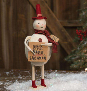 "Sprinkles ""No Man"" Snowman Tabletop & Decor CWI+"