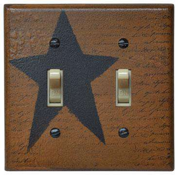 Star Double Switch Plate Cover Switchplate Covers CWI+