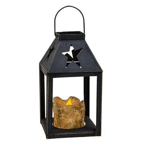 Star Iron Lantern w/ Pillar HS Candles CWI+