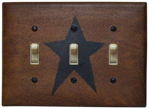 Star Triple Switch Plate Cover Switchplate Covers CWI+