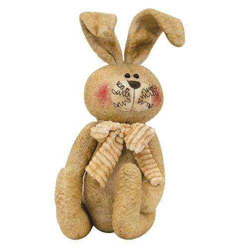 Stuffed Sitting Bunny With Scarf Easter CWI+