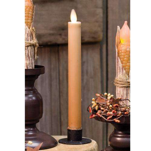 Tan Flicker Taper Candlesticks CWI+