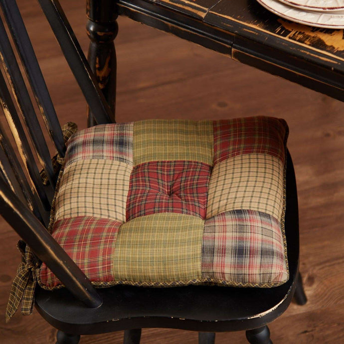 Tea Cabin Chair Pad Patchwork Chair Pad VHC Brands