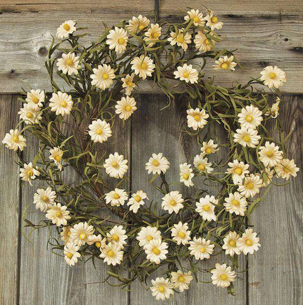 "Teastain Daisy Wreath - 18"" Wreaths CWI+"