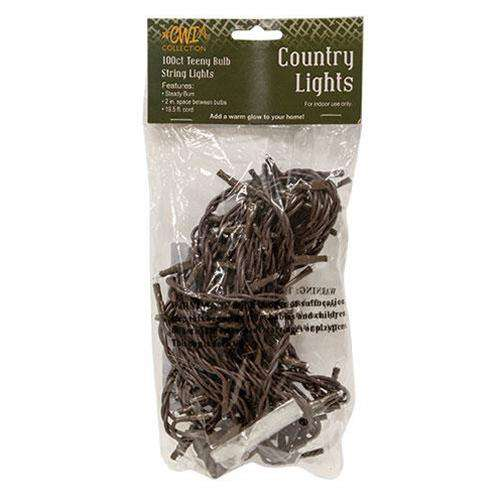 Teeny Lights, Brown Cord, 100ct Light Strands CWI+