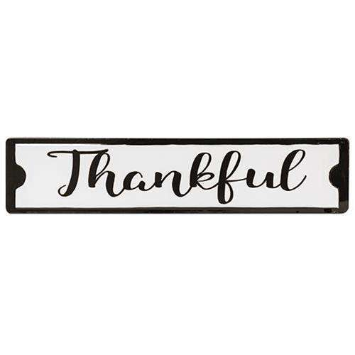 Thankful Black and White Street Sign New Everyday CWI+