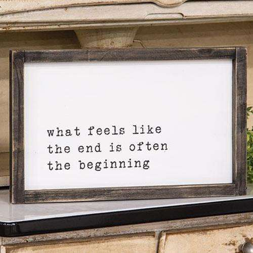 The Beginning Framed Sign Farmhouse Signs CWI+