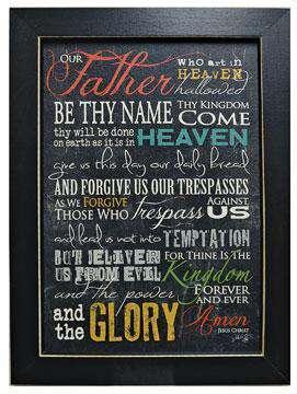 The Lord's Prayer Framed Print Country Prints CWI+