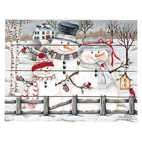 The Snow Family Pallet Art Winter Signs CWI+