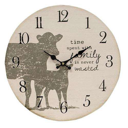 Time Spent Decorative Clock with Cow Silhouettes wall clocks CWI+