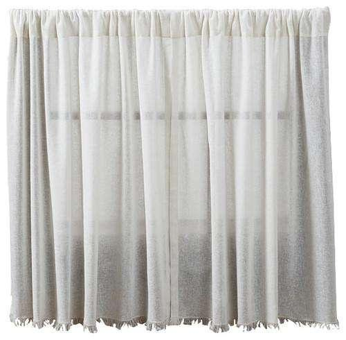 Tobacco Cloth Antique White Tiers, 36x36 2/Set curtains CWI Gifts
