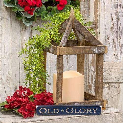 "Tobacco Stick Lantern, 19"" H Lanterns CWI Gifts"