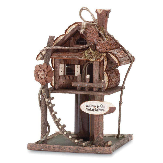 Tree House Bird House Feeder Accent Plus