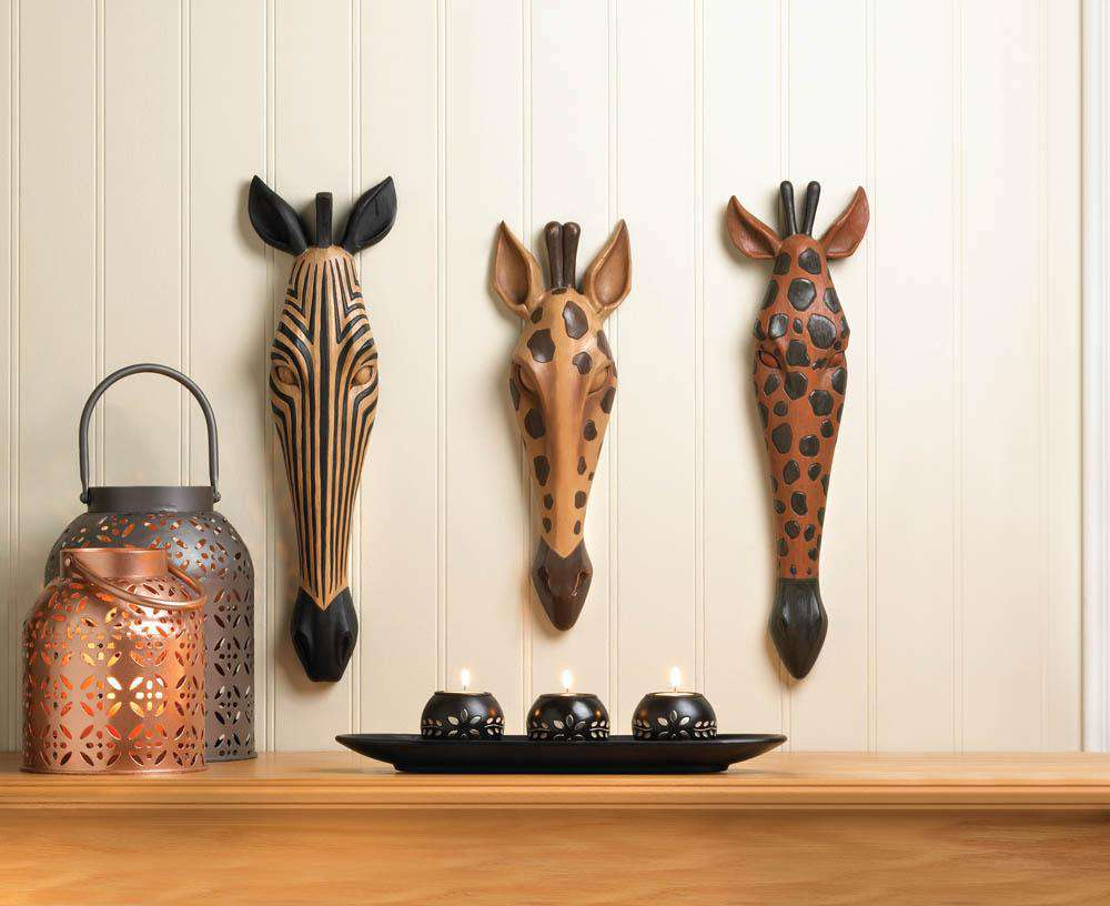Tribal Zebra Wall Plaque - The Fox Decor