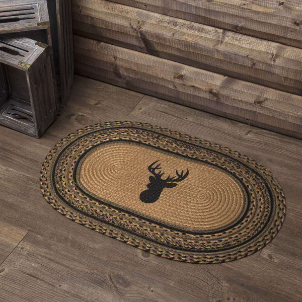 Trophy Mount Jute Braided Rug Oval rugs VHC Brands