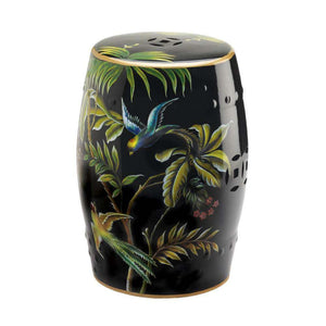 Tropical Birds Decorative Stool