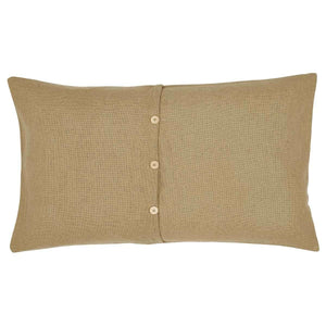 Burlap Natural King Sham 21x37 VHC Brands