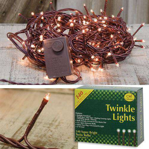 Twinkle Lights, Brown Cord Light Strands CWI+