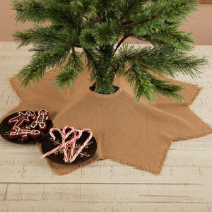 Burlap Natural Mini Tree Skirt 21