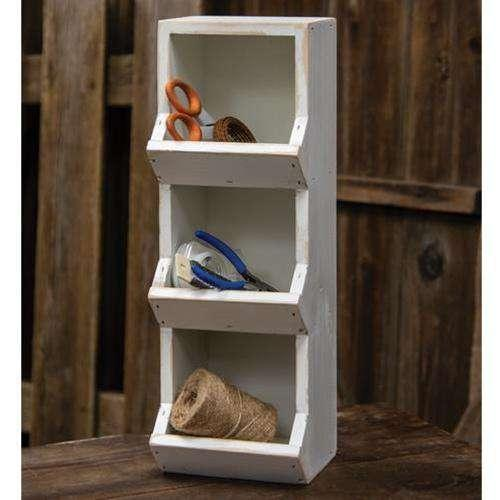 Vertical Bin, Farmhouse White Wood CWI+