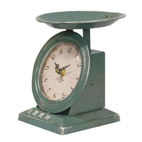 Vintage Blue Old Town Scale Clock General CWI+