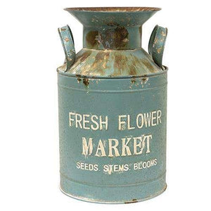 Vintage Fresh Flower Market Milk Can Buckets & Cans CWI+