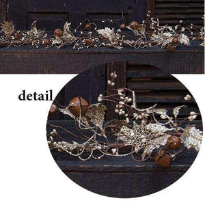 Vintage Holly & Bells Garland, 4 ft. Florals CWI+