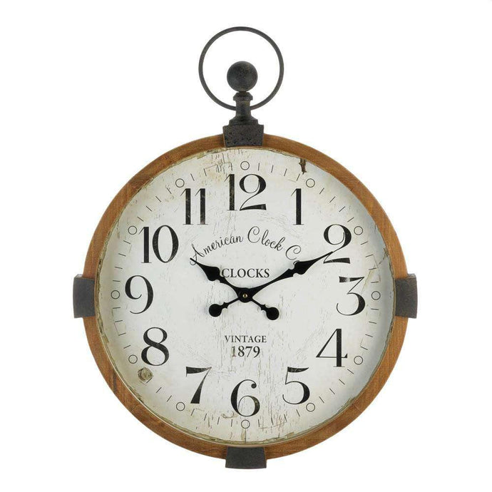 Vintage Industrial Wall Clock for living room or kitchen