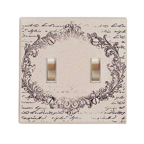 Vintage Postcard Double Switchplate Cover Switch Plates CWI+