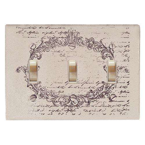 Vintage Postcard Triple Switchplate Cover Switch Plates CWI+