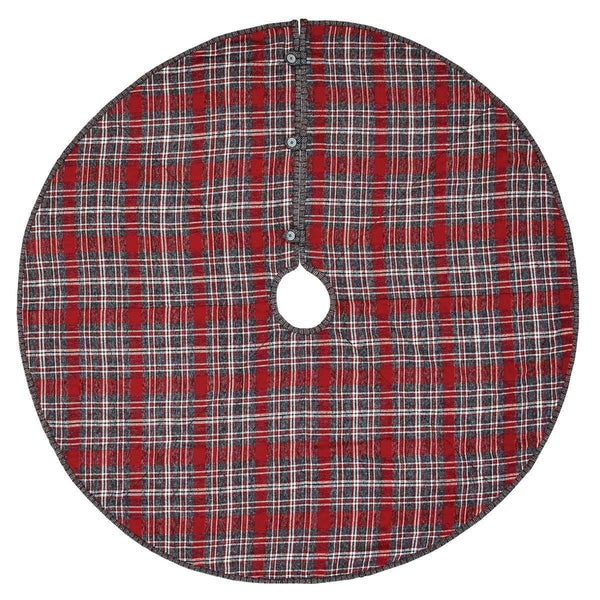Anderson Plaid Christmas Tree Skirt 48 VHC Brands