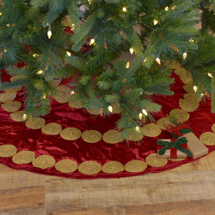Memories Red Tree Skirt 48