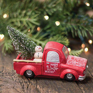 Warm Winter Wishes Truck Tabletop & Decor CWI+