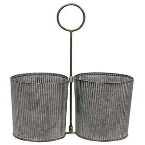 Washed Galvanized Metal Caddy Buckets & Cans CWI+
