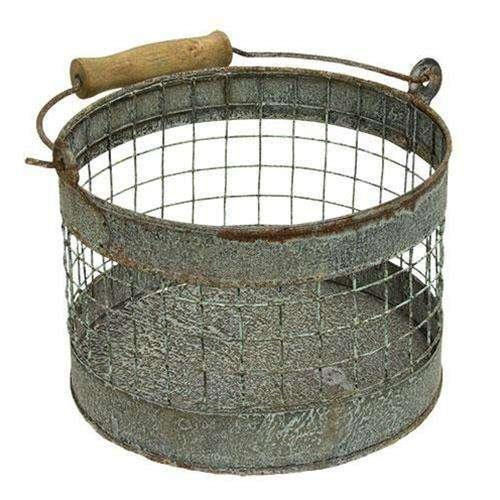 Washed Galvanized Screen Bucket Buckets & Cans CWI+