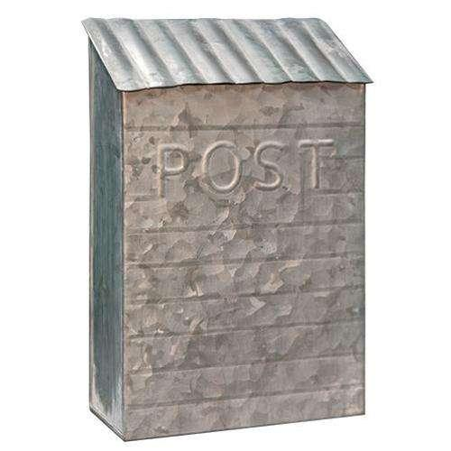 Washed Galvanized Vintage Post Box Mail and Post Boxes CWI+