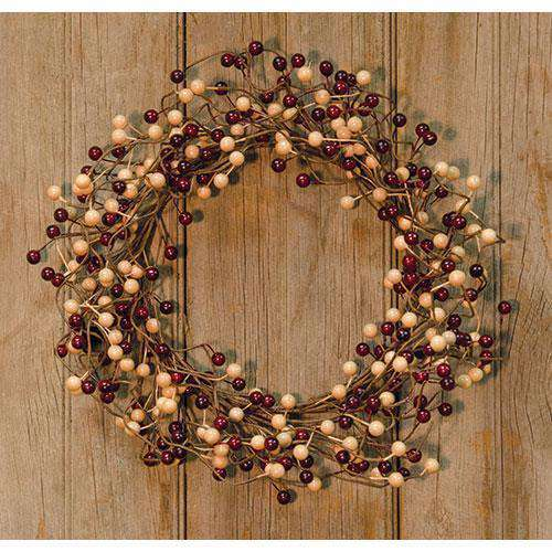 Waterproof Burg/Gold Berry Wreath Rings/Wreaths CWI+