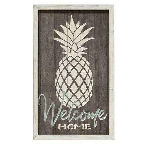 Welcome Home Wall Art With Pineapple Design Pictures & Signs CWI+