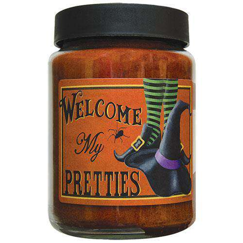 Welcome My Pretties Jar Candle, 26oz Fall Candles & Lights CWI+