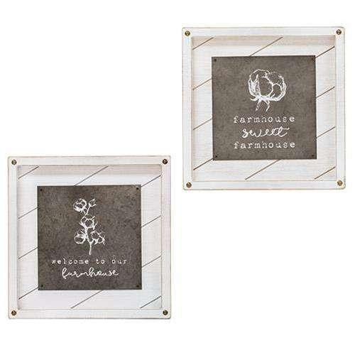 Welcome to our Farmhouse Easel, 2 Asst. Farmhouse Signs CWI+