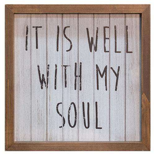 Well With My Soul Framed Sign Pictures & Signs CWI+