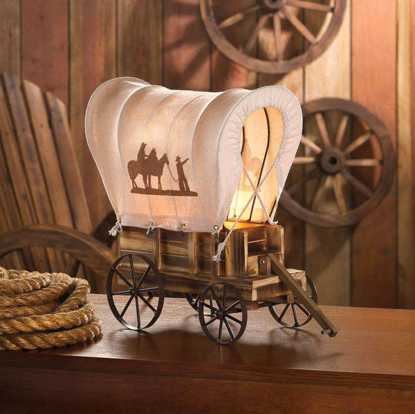 Western Wagon Table Lamp Accent Plus