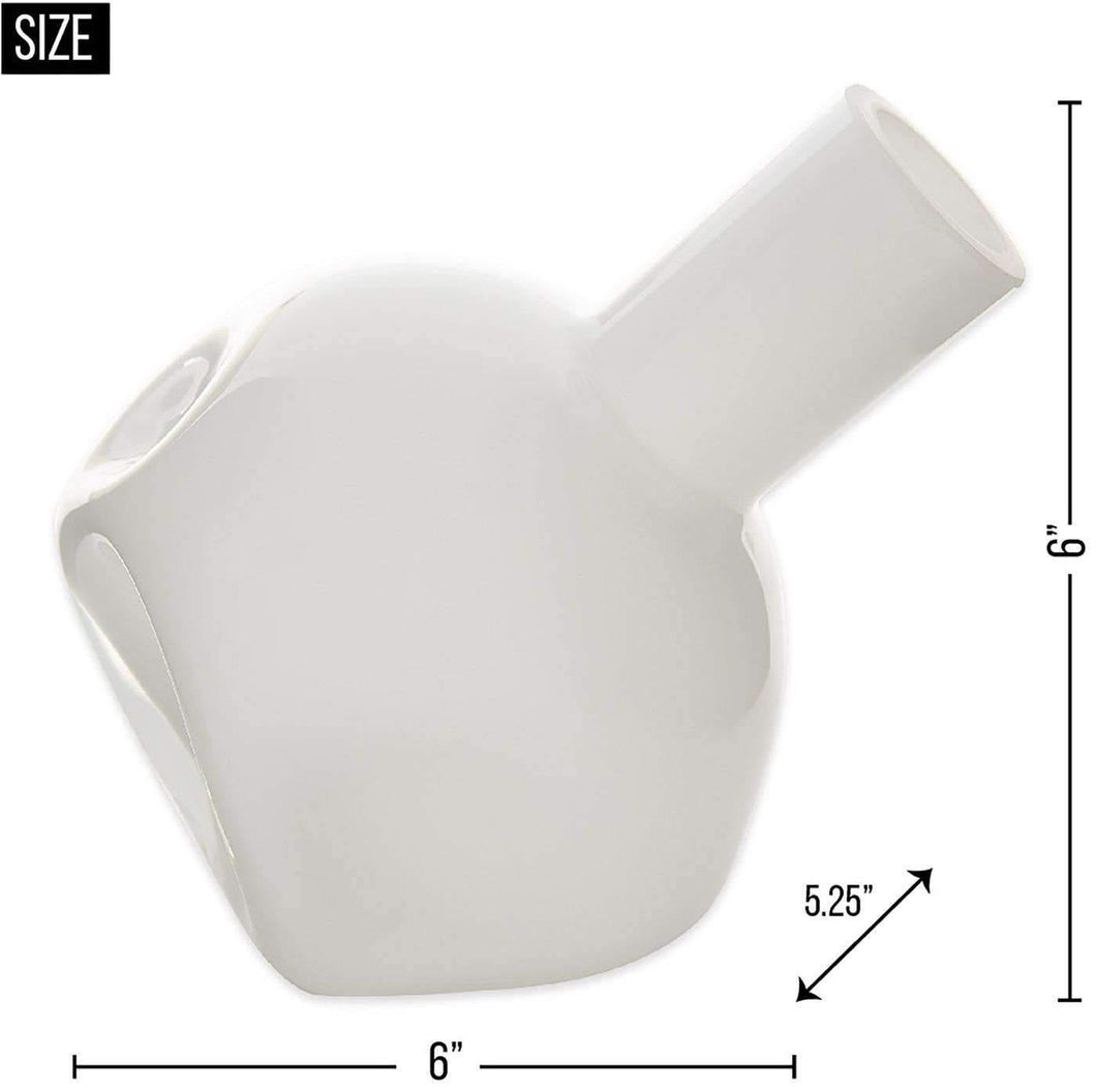 White Abstract Vase