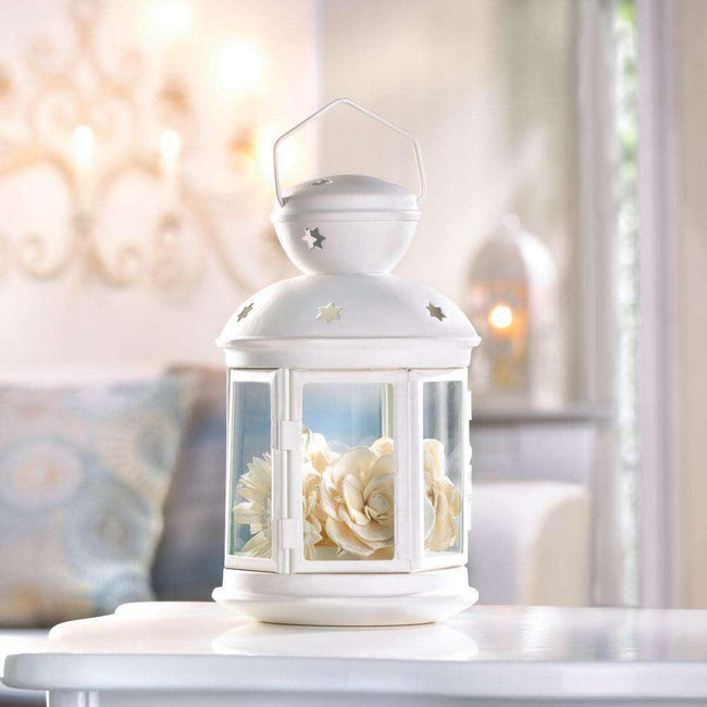 White Colonial Candle Lamp - The Fox Decor