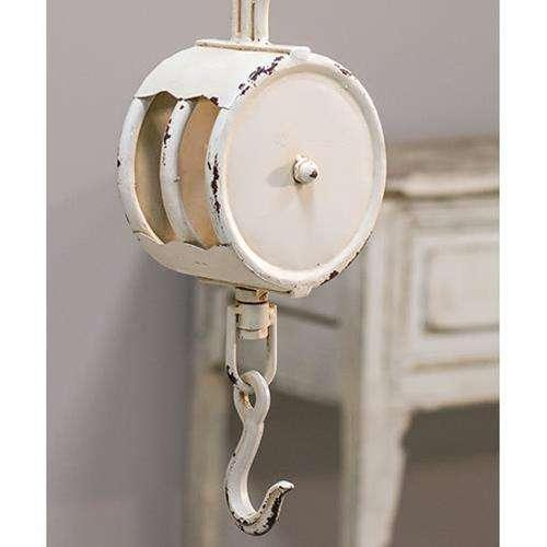White Pulley Ornaments CWI+