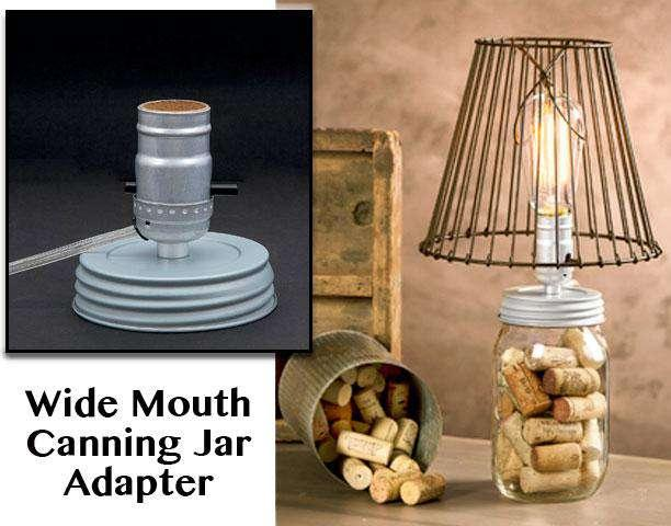 Wide Canning Jar Lamp Adapter Lamps/Shades/Supplies CWI+